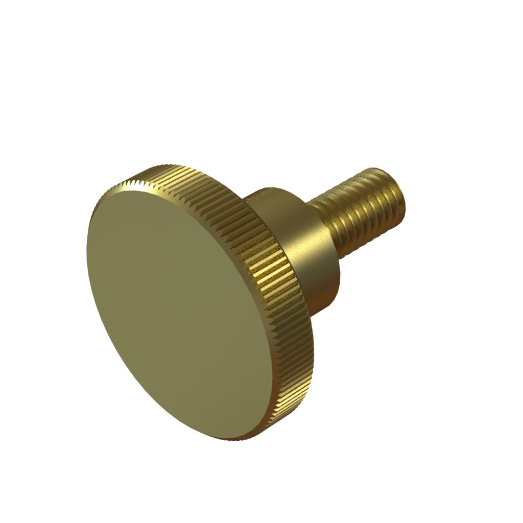 Brass Knurled Thumb Screws DIN 464 M5 to M8